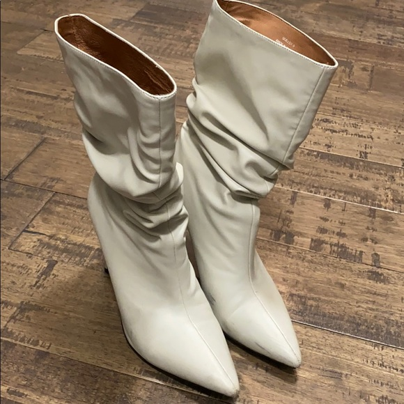 Jeffrey Campbell Shoes | White Scrunch